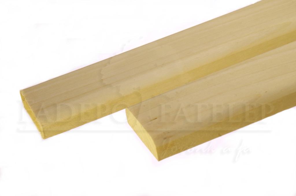 Csomómentes Fehér Nyárfa Szaunaléc, 15x45mm