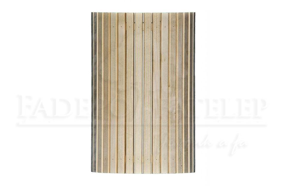 Szaunalámpa-árnyékoló fehér nyárfa - sarok és egyenes kivitel