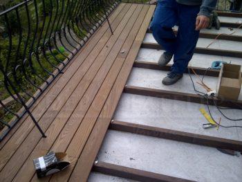 """Thermowood kőris rétegragasztott szerkezetfa 45x70 mm """"A"""" minőségű"""